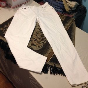 Size 12 Med. white Lee jeans