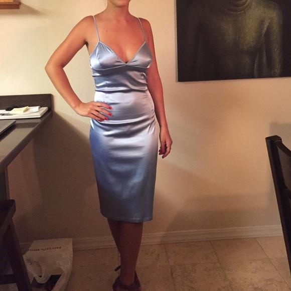 f3b1567026154 D&G Dresses & Skirts - D&G by Dolce & Gabbana ice blue slip dress.