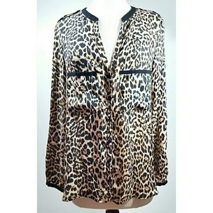 Zara Tops - Zara Animal Print Button Up Blouse/top