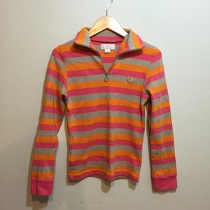 Fred Perry Tops - Fred Perry striped 1/2 zip l/s top Sz 4