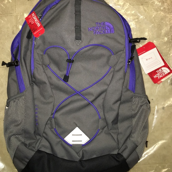 50e67c9eb The North Face Jester Backpack Zinc Gray/Purple NWT