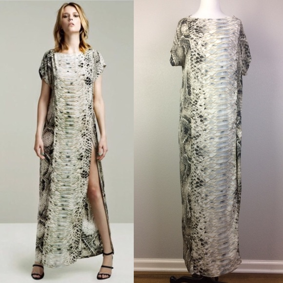0c15fd5b Zara snake print maxi with slit