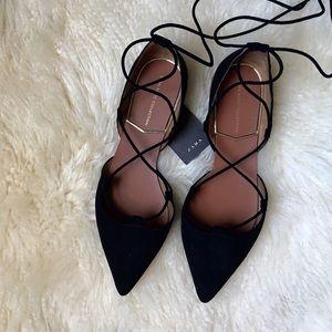 Zara d'orsay flats black