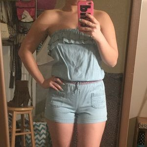 Other - Stretchy Jean Romper (XS)