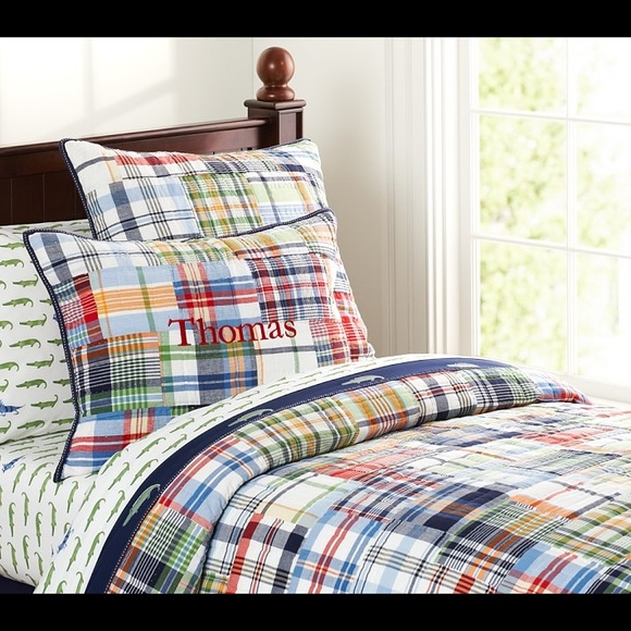 Pottery Barn Kids Madras Twin Quilt