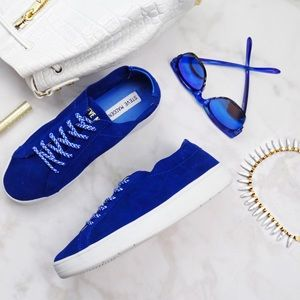 Steve Madden Shoes - Steve Madden Royal Blue Suede Sneakers