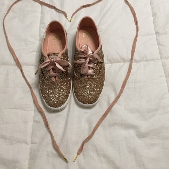 3740910e23f kate spade Shoes - Kate Spade x Keds rose gold glitter