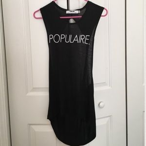 Populaire popular Pure Barre open back tank top