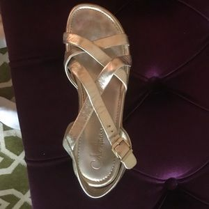 Cole Haan gold sandal