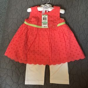 First Impressions Other - NWT First Impressions 2 Piece Eyelet Outfit