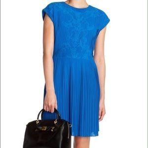Ted Baker Dresses & Skirts - Ted Baker Blue Pleated Dress