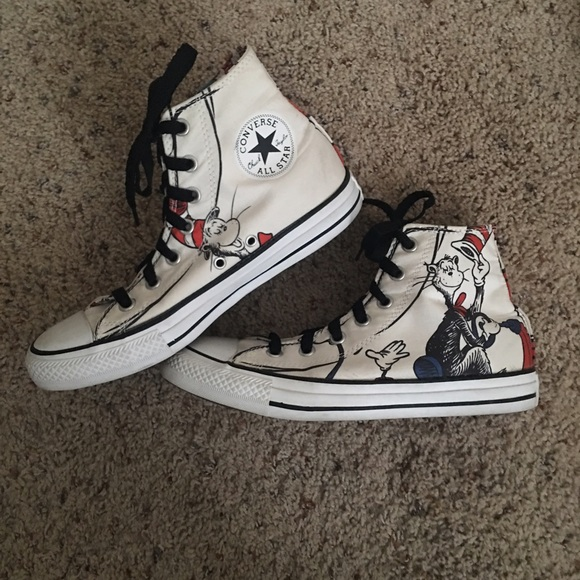 b091bb1ed3b Converse Shoes - Dr Seuss The Cat in the Hat Converse