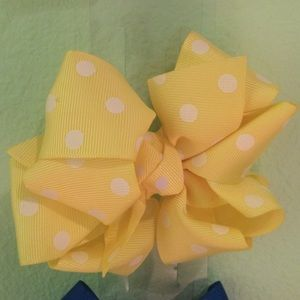 SAMOON Accessories - Colorful  polka dot bows- Set of Five