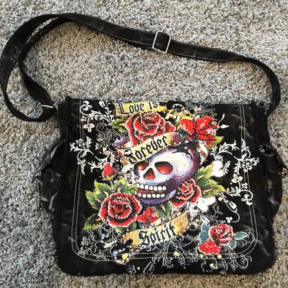 355ecf2bdc Ed Hardy Handbags - Ed Hardy Laptop Bag.