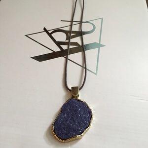 🍀 Lavender Crystal Slab Necklace