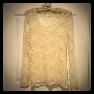 Zenana Outfitters Tops - Full lace long sleeve shirt