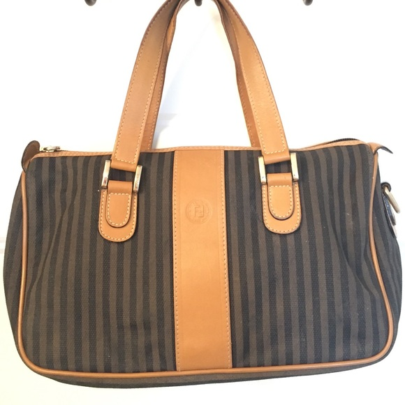 Fendi Handbags - Vintage used Fendi purse worn sticky stripes bag 951b66409383e