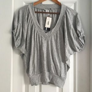 Necessary Objects Tops - NWT necessary objects gray crop t shirt sz S