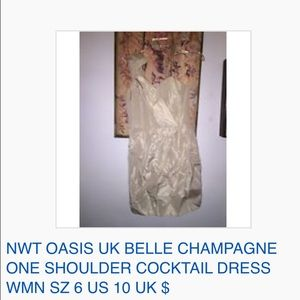 Oasis Dresses & Skirts - NWT OASIS UK BELLE CHAMPAGNE  COCKTAIL DRESS 6