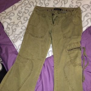 Sanctuary anthropologie olive green jeans bootcut