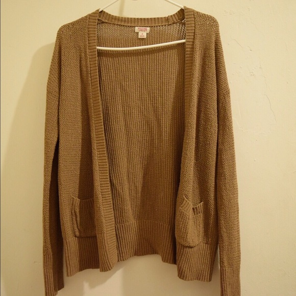 50% off Mossimo Supply Co. Sweaters - Brown open knit cardigan ...