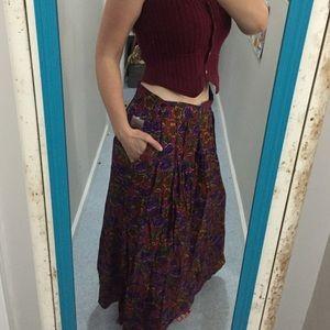 Vtg rockabilly Colorayons Skirt made in Ireland