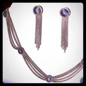 Vintage necklace + earrings set SILVER Anatolian
