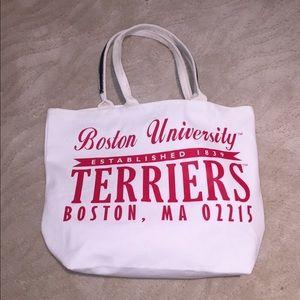 Boston university logo tote