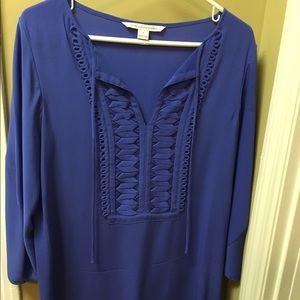 DVF blue dress