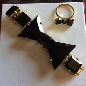 Authentic Kate spade black bow bracelet