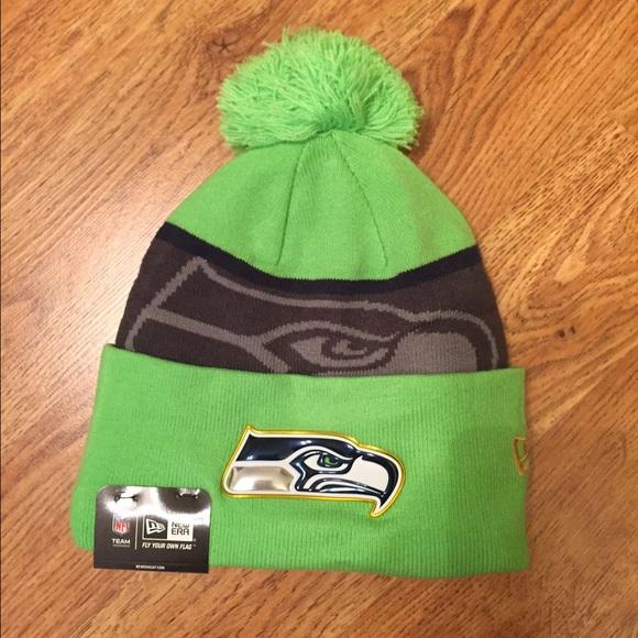 3a1950252 New Era Accessories   Nfl Seattle Seahawks Cuffed Knit Hat Nwt ...