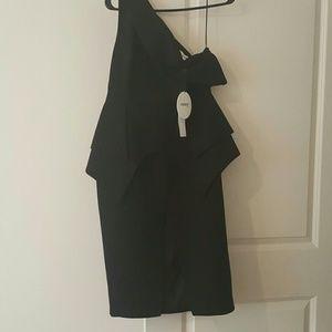Black off the shoulder dress brand new size L