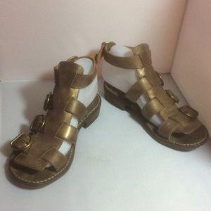 Fiorentini + Baker Shoes - Fiorentini + Baker Bronze Gladiator Sandals SZ 7.5
