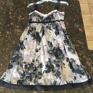 ✨FINAL PRICE✨Loft Dark Floral Dress with Ribbon