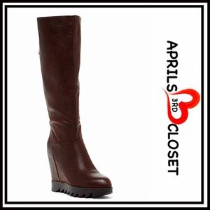 Elegant Shoes - Tall BOOTS Wedge Riding Boots