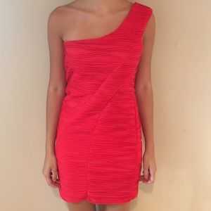 Double Zero Dresses & Skirts - Red one shoulder dress
