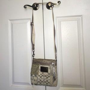 Leather and cloth Poppy Coach crossbody bag