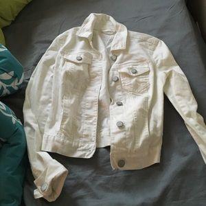 Jackets & Blazers - Aeropostale xs white jean jacket