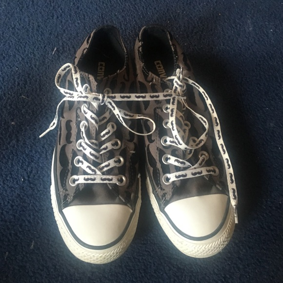 98f59295091e Converse Shoes - Mustache print converse