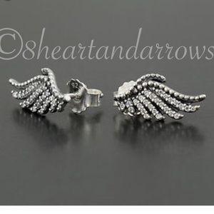 Pandora majestic feather earrings