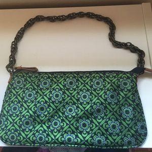 J. Crew silk clutch/ shoulder bag