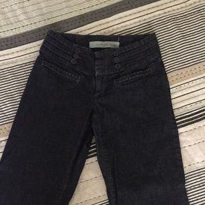 dark wash wide leg jeans