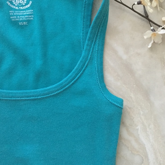 Route 66 Tops - Route 66 Teal Tank Top