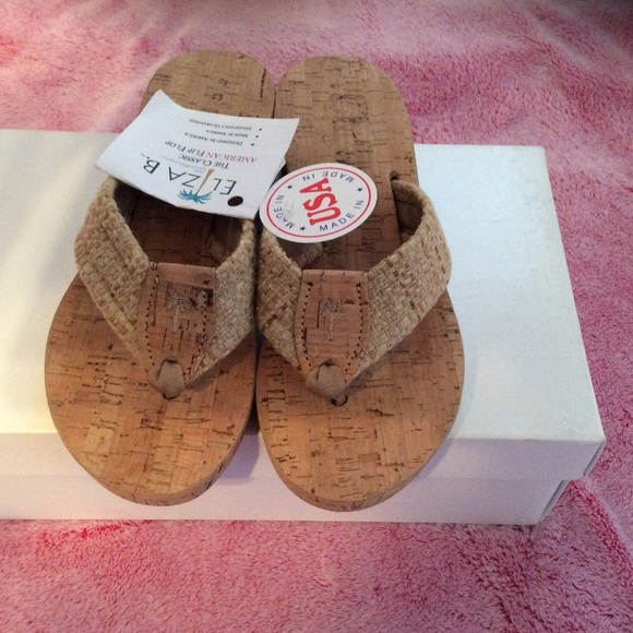 49e684a4abb4 Eliza B Women s Wedge Cork Sandal Size 7