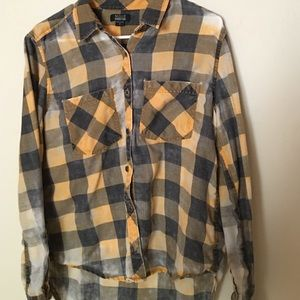 Yellow and Black Plaid Flannel