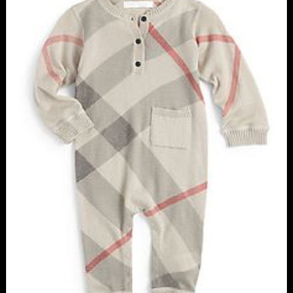 196d3f571c565 Burberry Other - BURBERRY INFANT BOYS KNIT COVERALL