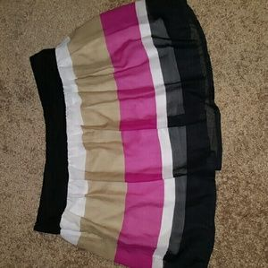 Dresses & Skirts - Color block pleated above the knee Flirty Skirt