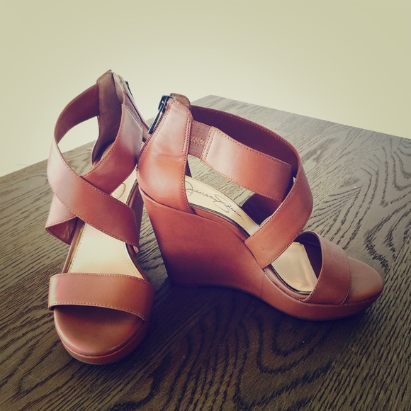 1db55c5e64ad5 Jessica Simpson Women's Jinxxi Wedge Sandal Sz 6.5