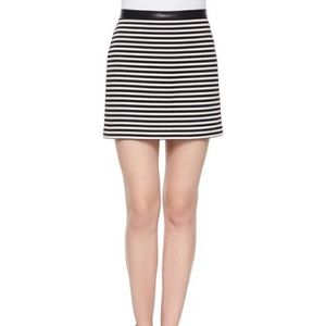 T by Alexander Wang Twisted Striped Skirt