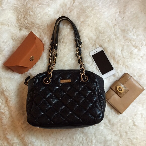 348b6698c8 kate spade Handbags - Kate Spade Gold Coast black quilted leather bag